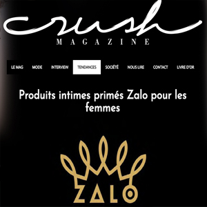 Award-winning Zalo products have landed in crush magazine in France